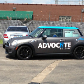 ADVOCATE BE LOCAL vehicle wrap