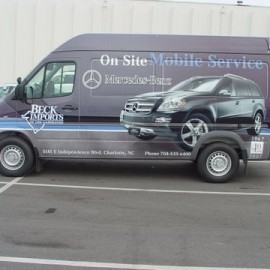 Wrapped van for businesses