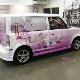 Micro car wraps for business