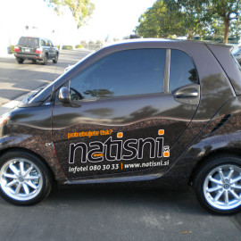 Wrapped smart car