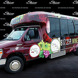 Wine tours - vinyl wrapped van