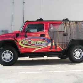 hummer vehicle wrap for mobile advertising