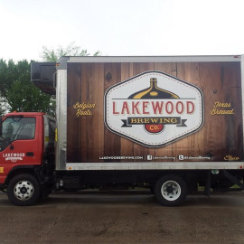 Mobile Box Truck Wrapping Advertising for Lakewood Brewing