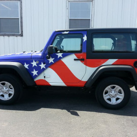 American Flag Jeep Wrap