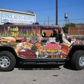 hummer vehicle wrap for businesses