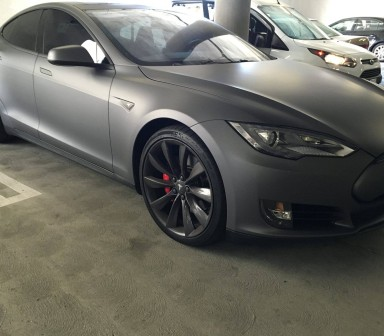 Tesla Matte Black Wrap