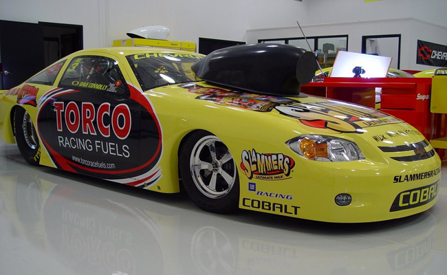 Custom vinyl graphics wraps for torco racing car in dallas