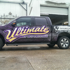 Ultimate Sport Nutrition custom truck wrap