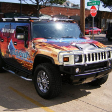 vinyl-graphics-Wrap-installed-on-a-Hummer-H2-for-Rapid-Industrial-Cleaning