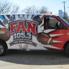vinyl-van-wraps-for-105.3-The-Fan-in-Dallas-TX