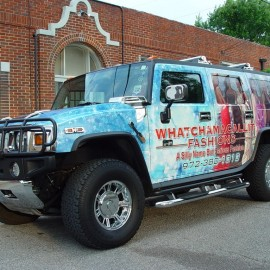 hummer vehicle wrap for marketing