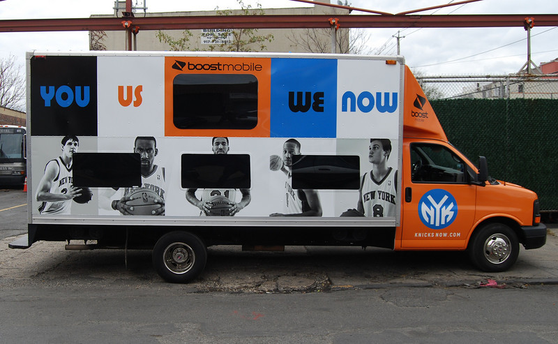Box Truck Wrap for NY Knicks