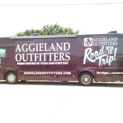 RV vehicle wrap Aggieland project by SkinzWraps