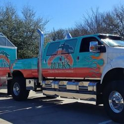 Bahama Bucks Truck wrap and trailer wrap