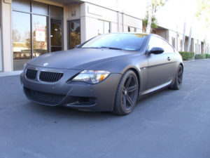 Matte Black Car Wrap BMW