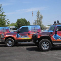 Fleet truck wraps for business
