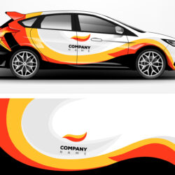 Car Wrap with a spot for your company Logo