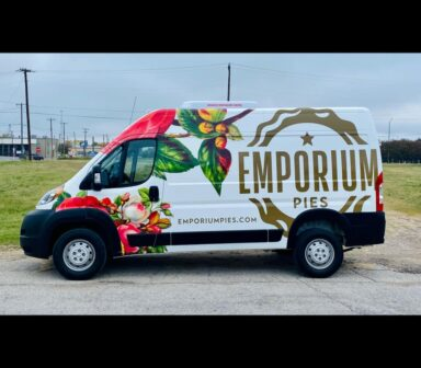Emporium Pies wrapped Commercial Vehicle